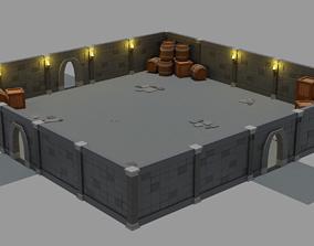Modular Dungeon 3D model realtime