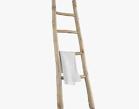 3D model Wooden ladder