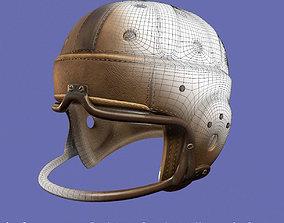 3D model Vintage 1940 antique leather football