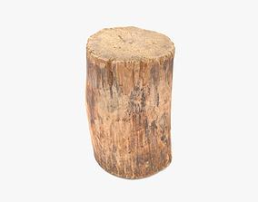 3D model Log Round Short