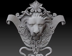 Lion Head Ornament 3D printable model