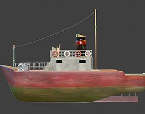 3D model sea sailing vessel