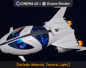 Awesome super ship 3D model