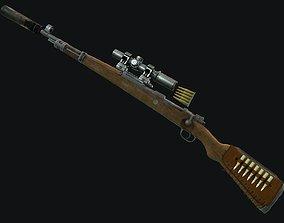 3D asset Kar 98 Bolt action rifle