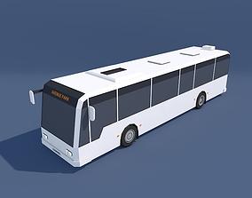 3D asset Low Poly City Bus