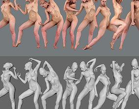 3D print model Anatomy female all pose n1