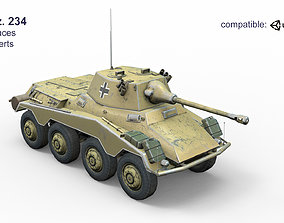 Sd Kfz 234 3D asset