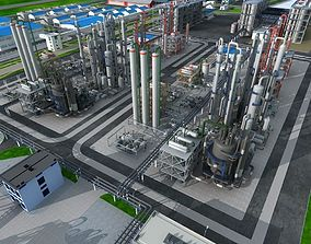 3D model Chemical Factory Scene