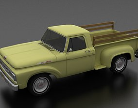 3D model F-Series F-100 Flareside Pickup 1961