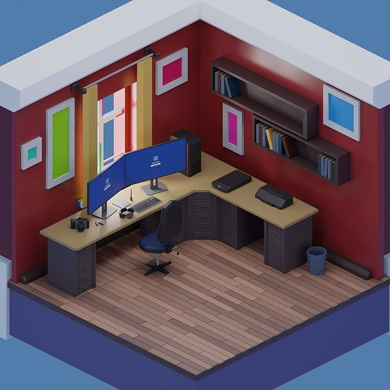 freelancer working room models set