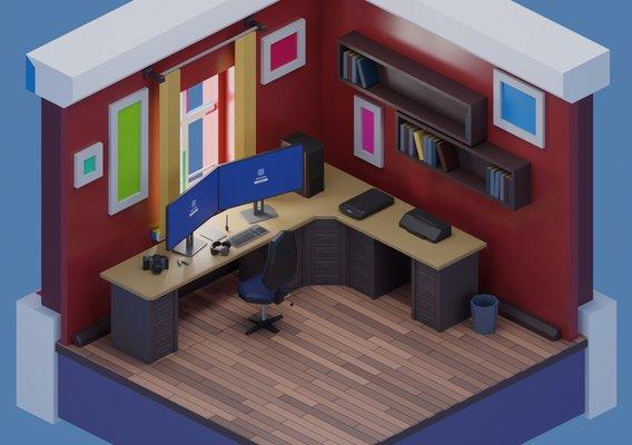 freelancer working room models set