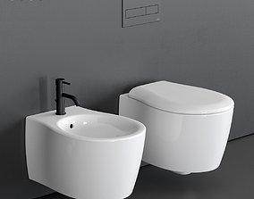 Olympia Ceramica Formosa 2 0 Wall Hung WC 3D model