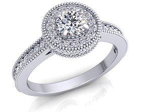 printable Halo Diamond Ring 3D printable model
