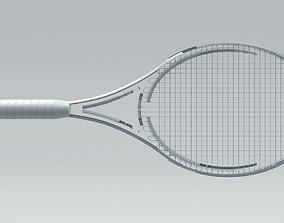 Tennis Racquet Architectural Space 3D model