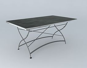 3D model Dining table anthracite GARDEN PARTY