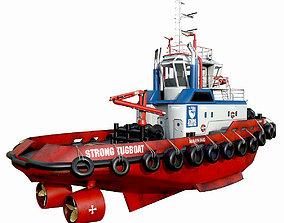 3D asset realtime Tug boat 30 m