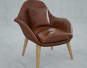Arm chair fredericia swoon interior 3D