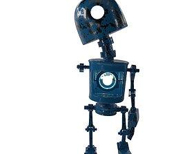 Tin Metal Robot 3D asset