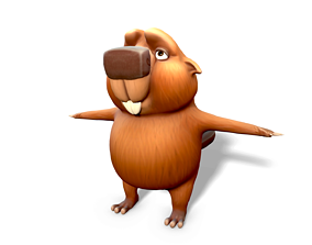Stylized Beaver 3D model