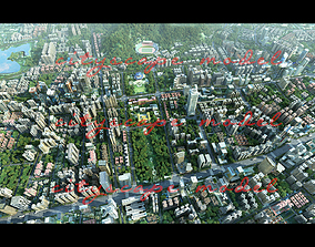 3D model animated cityscape