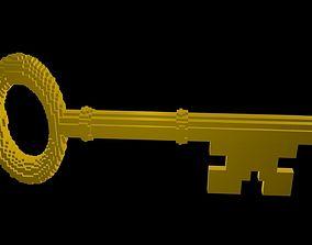3D Classic Key voxel 2