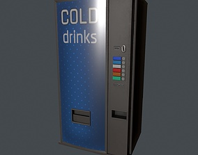 3D model realtime Cold Drinks Vending Machine