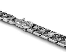 3D print model Oxide silver original skull bracelet clasp