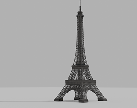 3D model low-poly The Eiffel Tower