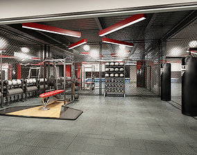 Gym - Exercise Room - Max - Mental Ray 3D