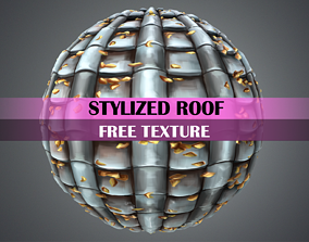 Stylized Roof Texture 3D model