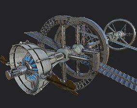 Space Station PBR-Gameready 3D asset