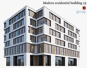 Modern residential building 15 3D
