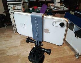 3D printable model GoPro adapter phone holder