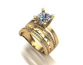 3D printable model wedding ring silver