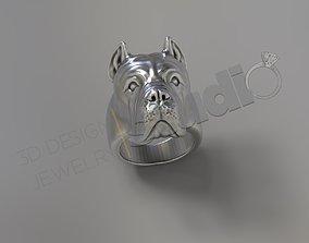 Cane Corso figure face ring 3d model