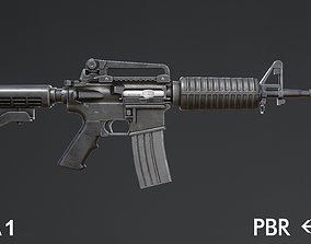 low-poly M4A1 for Gameasset
