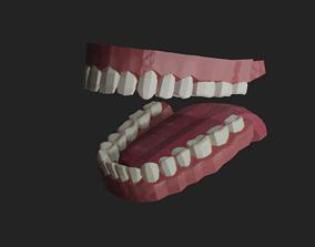 3D model Low poly teeth