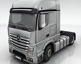 Mercedes Actros DHL UPS FedEx 3D model