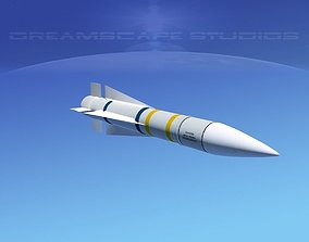 3D asset AIM -54 Phoenix air to air missile