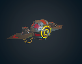 3D asset Sci-fi Military drone - 02