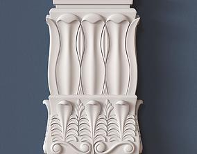 decor 3D model Pilaster Capital