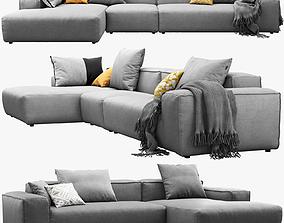 3D Rolf Benz Freistil 175 corner sofas