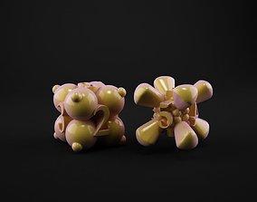 3D printable model set 6-sided dice