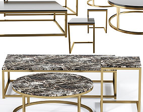 3D Cb2 Smart Marble Coffee Table