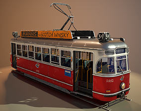 3D asset Tram Stylized