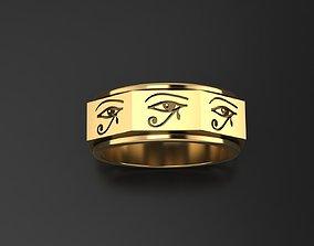 3D printable model Wadjet Eye of Horus ring
