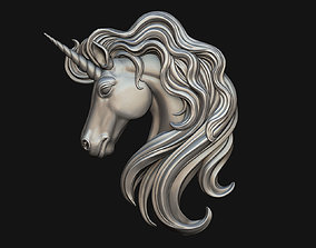 jewellery 3D print model Unicorn Pendant