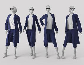 3D model Woman Mannequin window