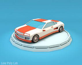 Cartoon Sport Car 3D model