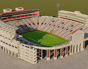 3D asset game-ready Vaught Hemingway Stadium